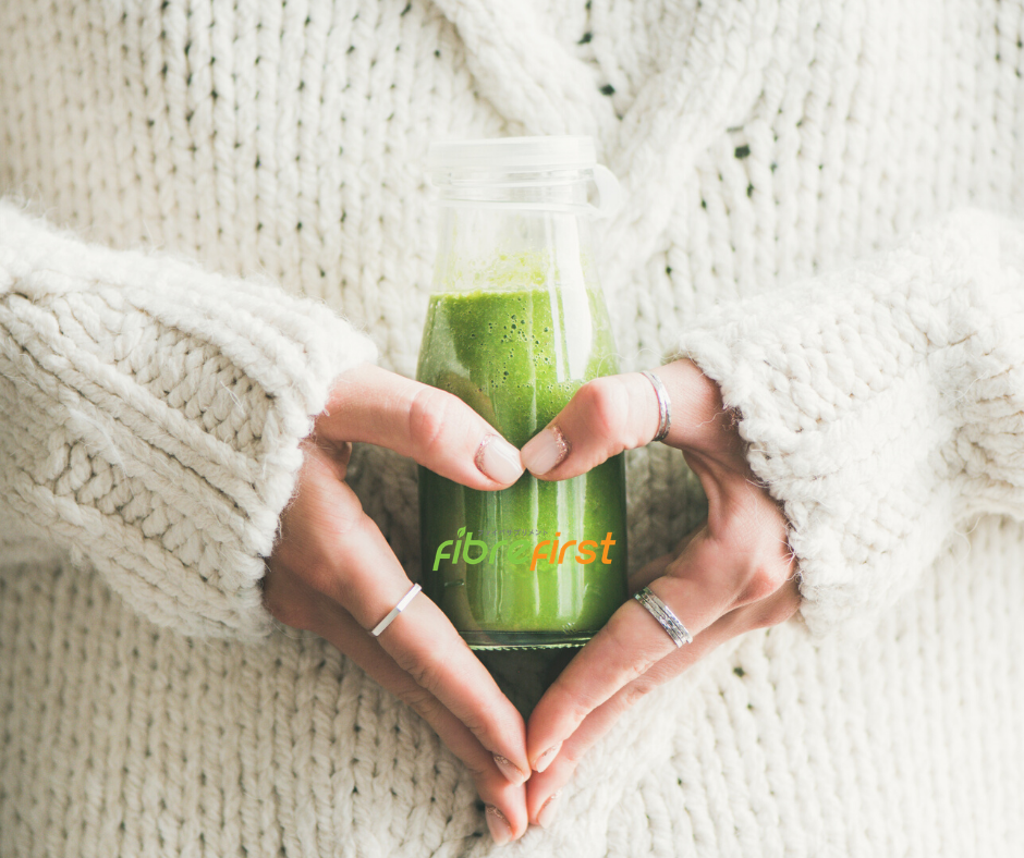 A serving of fibre-rich juice or smoothie helps sweep away harmful toxins.