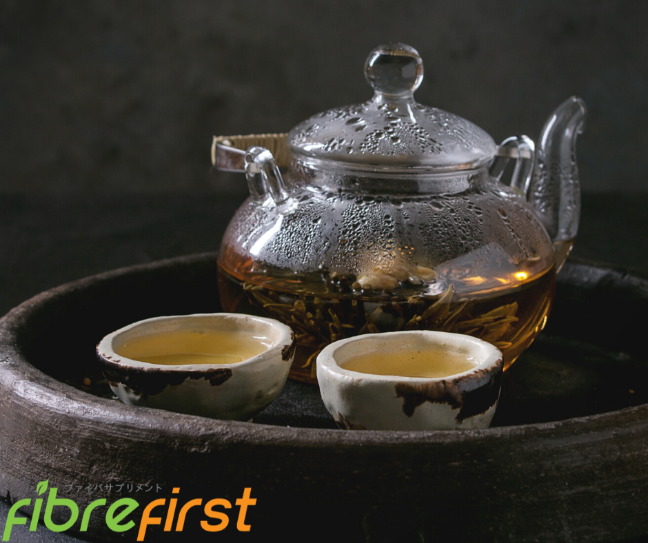 Green tea not only contains antioxidants, but it also helps lower cholesterol.