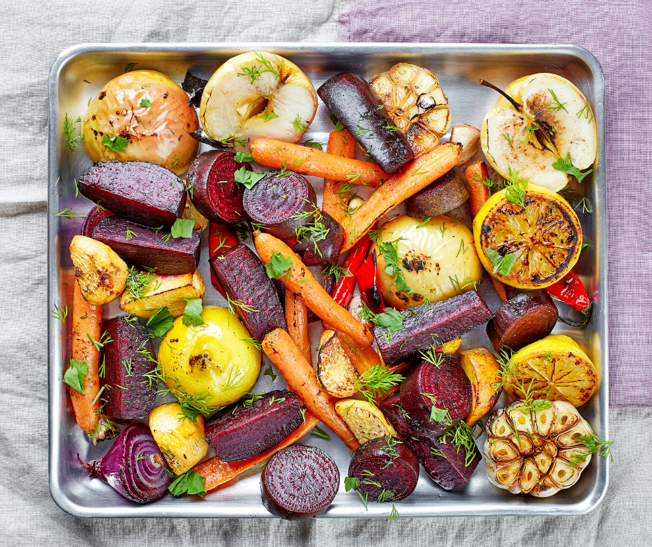 Roasted vegetables can help lower blood sugar.